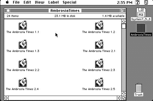 The Ambrosia Times, a Macintosh ezine